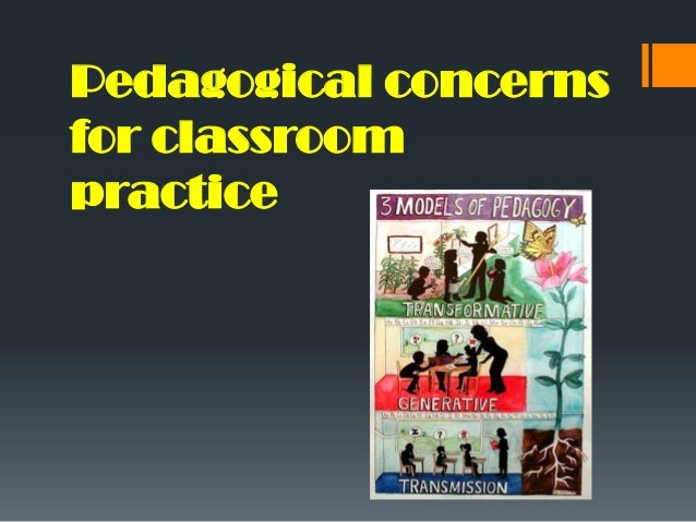 Pedagogical concerns for classroom practice