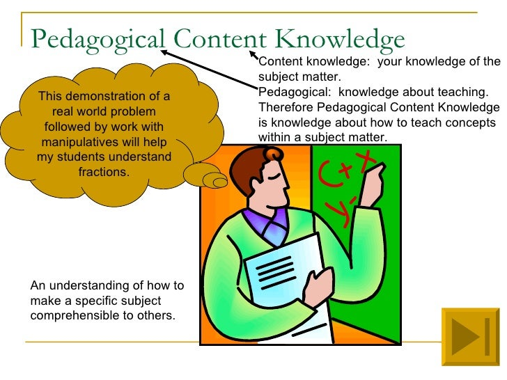 pedagogical knowledge Professional and pedagogical knowledge and skills of curriculum and instruction candidates are demonstrated through the nde evaluation of the program, coursework assessments, graduate.