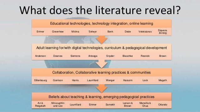 What does the literature reveal? Beliefs about teaching & learning, emerging pedagogical practices An & Reigeluth McLoughl...