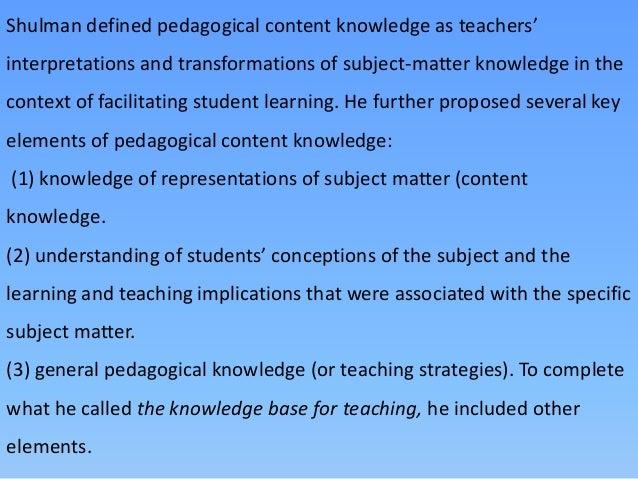 pedagogical skills