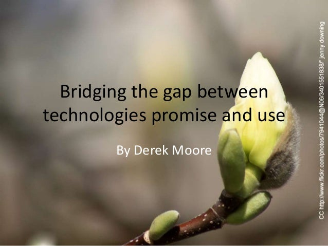 Bridging the gap betweentechnologies promise and use        By Derek Moore