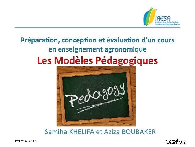 PCECEA_2015      Prépara&on,  concep&on  et  évalua&on  d'un  cours   en  enseignement  agronomique  ...