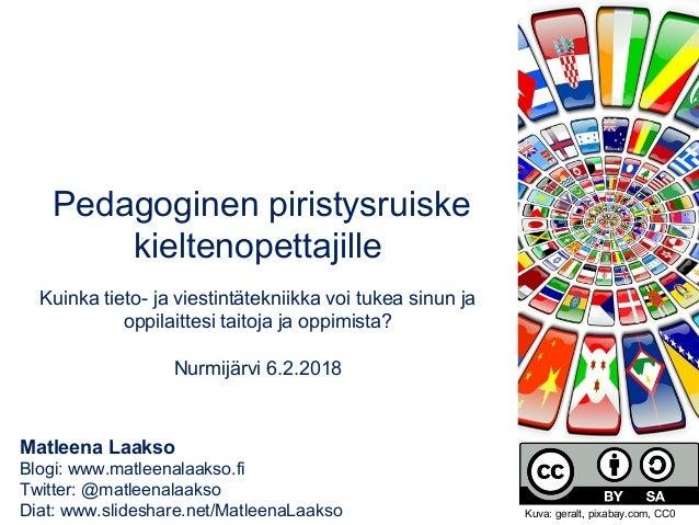 Matleena Laakso Blogi: www.matleenalaakso.fi Twitter: @matleenalaakso Diat: www.slideshare.net/MatleenaLaakso Pedagoginen ...