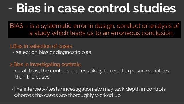 how to avoid selection bias in case control study