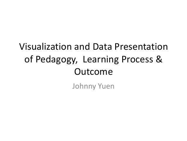 Visualization and Data Presentation of Pedagogy, Learning Process & Outcome Johnny Yuen
