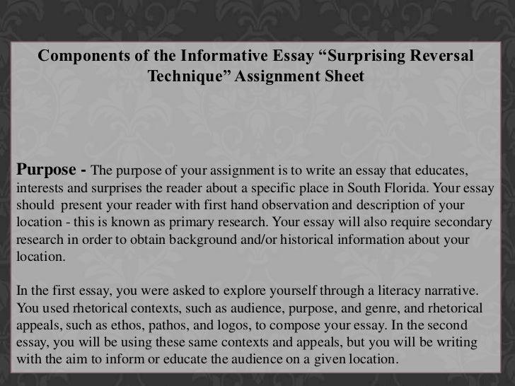 Surprising reversal essay topics - Best 12222 Year Free Sample: