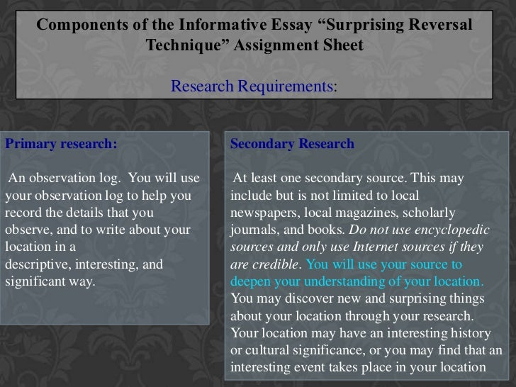 informative essay surprising reversal homework academic service informative essay surprising reversal