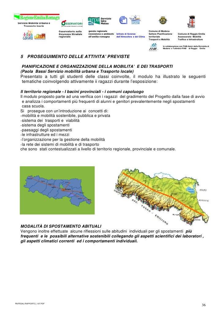 Servizio Mobilità Urbana e        Trasporto loacle                                Osservatorio sulla   Agenzia regionale  ...