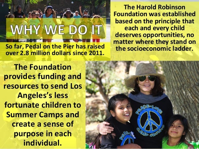 The Harold Robinson Foundation was established based on the principle that each and every child deserves opportunities, no...