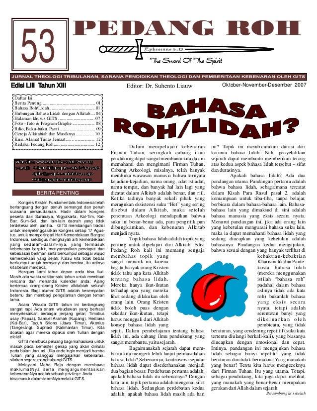 53 Oktober-November-Desember 2007  Edisi LIII Tahun XIII Daftar Isi: Berita Penting .........................................