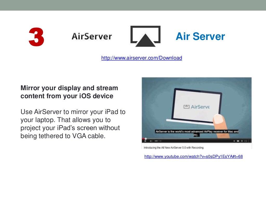 3 Air Server http://www airserver com/Download http://www youtube com…