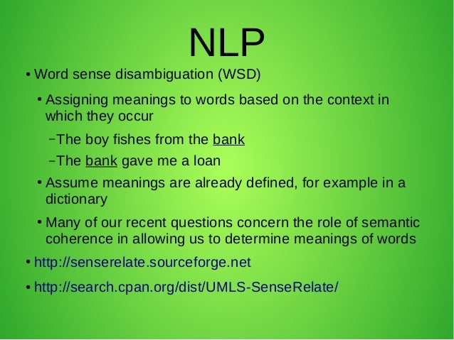 Master thesis nlp