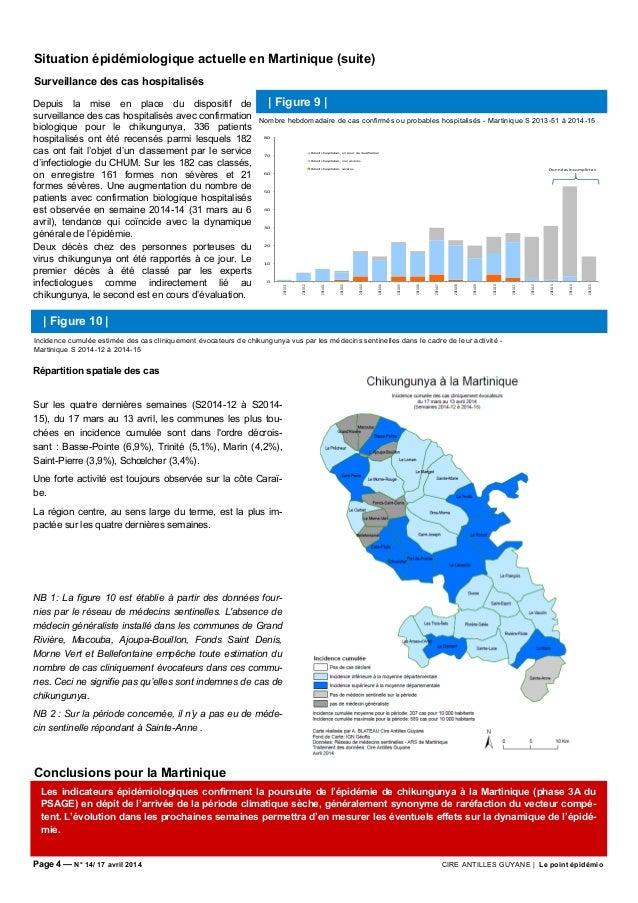 Page 4 — N° 14/ 17 avril 2014 CIRE ANTILLES GUYANE | Le point épidémio Conclusions pour la Martinique Situation épidémiolo...