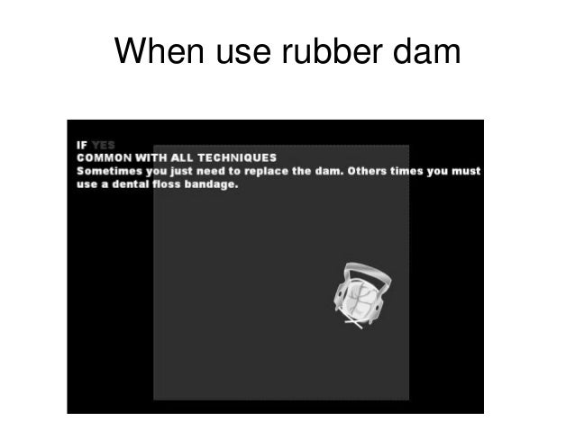 Pedia Rubber Dam Application