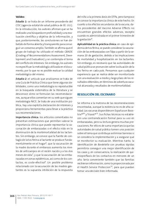 Ruiz-Canela Cáceres J, et al. En una epidemia de tos ferina, ¿es útil la estrategia de nido? Rev Pediatr Aten Primaria. 20...