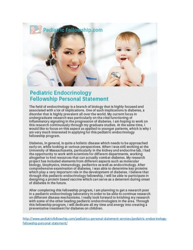 Pediatric residency personal statement