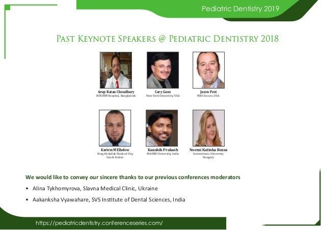 Pediatric dentistry 2019 brochure