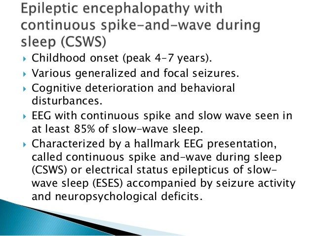 Pediatric epilepsy syndromes