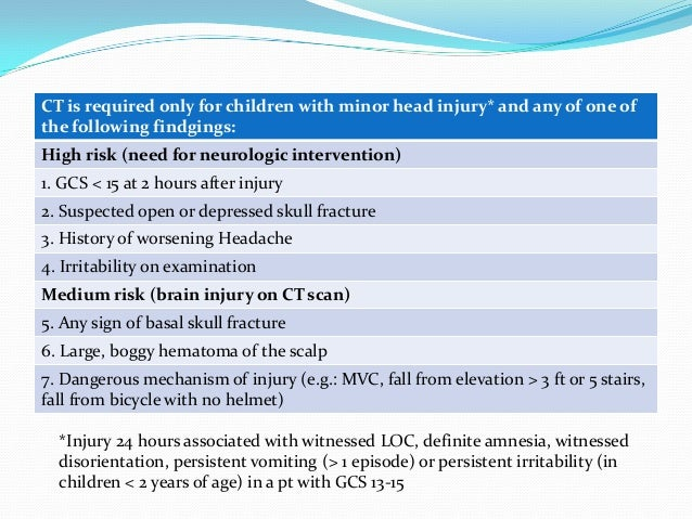 chalice head injury guidelines pdf