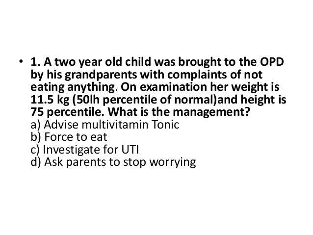 Pediatric mcq Slide 2