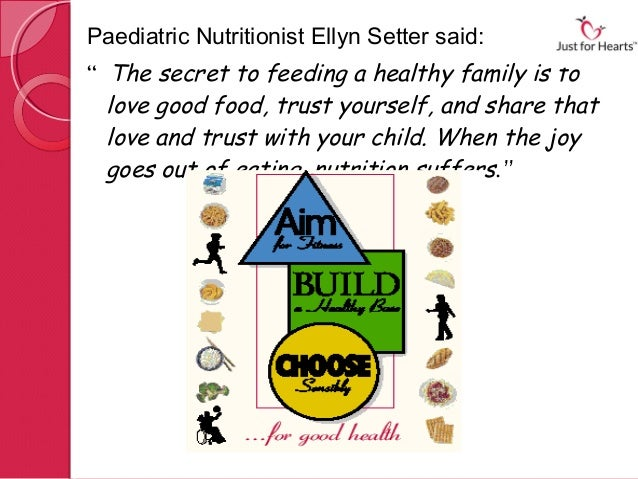"""Paediatric NutritionistEllyn Setter said:"""" The secret to feeding a healthy family is to  love good food, trust yourself, ..."""