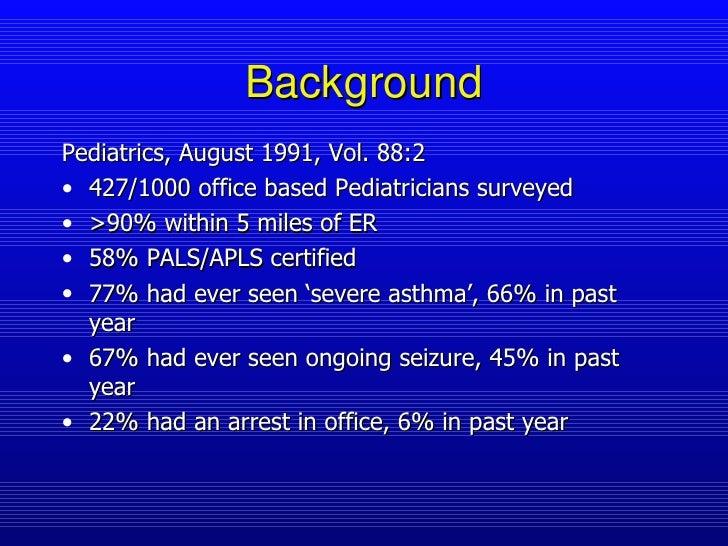 Pediatric Office Emergencies Slide 2