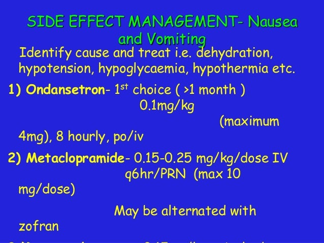 consensus guidelines for the management of post-operative nausea and vomitting
