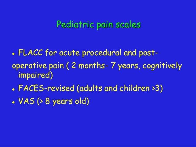 Pediatric pain protocol Al Razi Anesthesia department Kuwait
