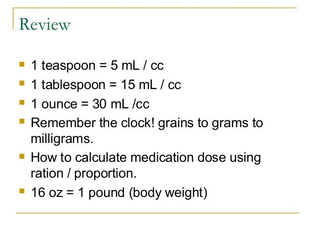 Pediatric pharmacology07ppt for 1 table spoon is how many ml