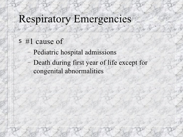 Pediatric Resp Emergencies