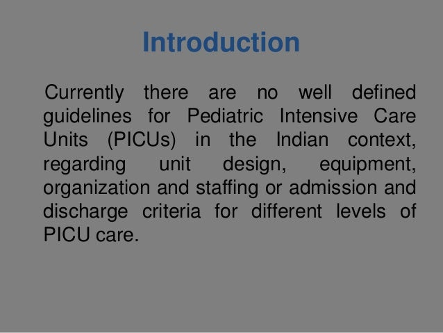 Pediatrics intensive care unit