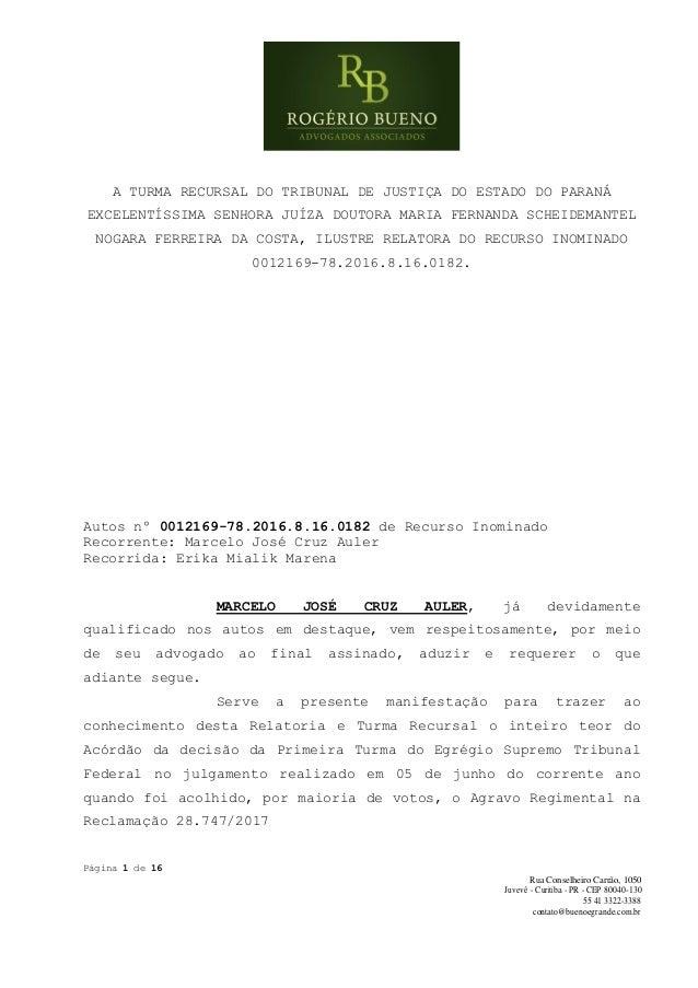 Página 1 de 16 Rua Conselheiro Carrão, 1050 Juvevê - Curitiba - PR - CEP 80040-130 55 41 3322-3388 contato@buenoegrande.co...