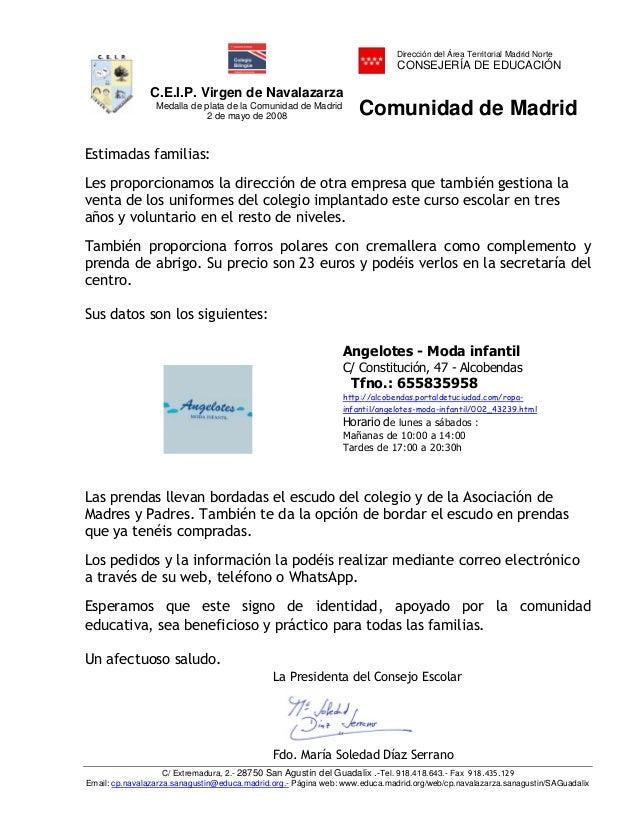 Dirección del Área Territorial Madrid Norte                                                                             CO...