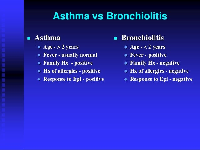Bronchiolitis in Infants and Small Children