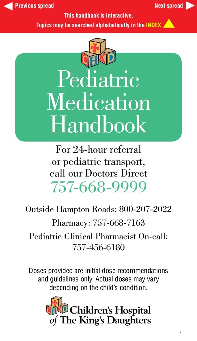 For 24-hour referral or pediatric transport, call our Doctors Direct 757-668-9999 Outside Hampton Roads: 800-207-2022 Phar...