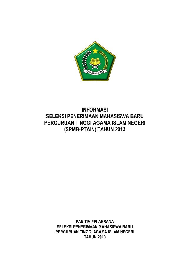 Pedoman spmb-ptain-2013