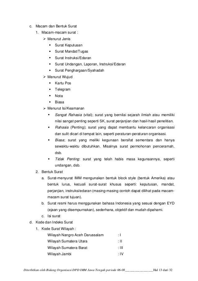 Contoh Surat Pengunduran Diri Imm