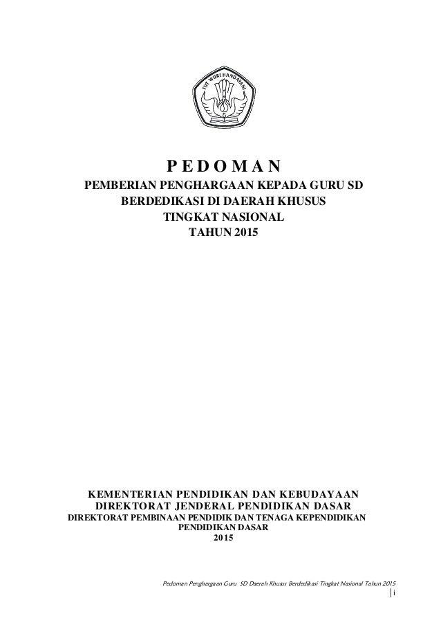 Pedoman Gurdasus Berdedikasi 2015 Ptk Pklk Dikdas Ok 1