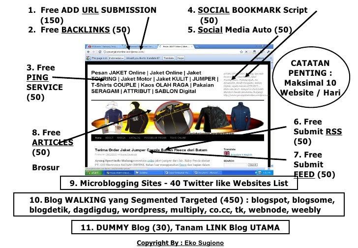 1. Free ADD URL SUBMISSION               4. SOCIAL BOOKMARK Script   (150)                                    (50)2. Free ...
