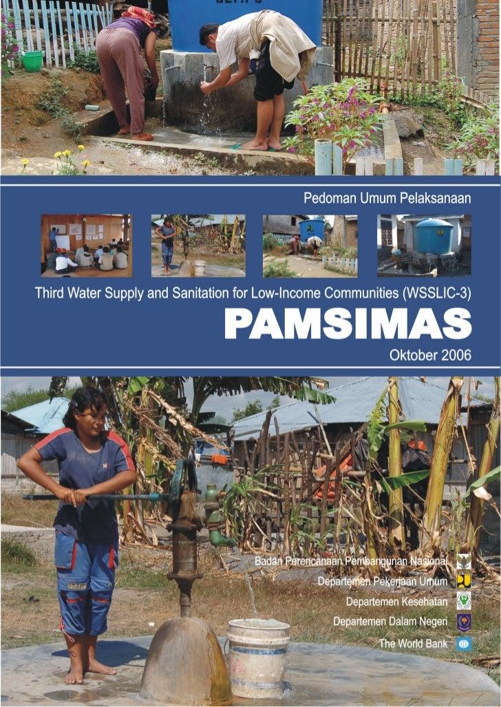 Pedoman Pengelolaan Umum                                                                         PAMSIMAS                 ...