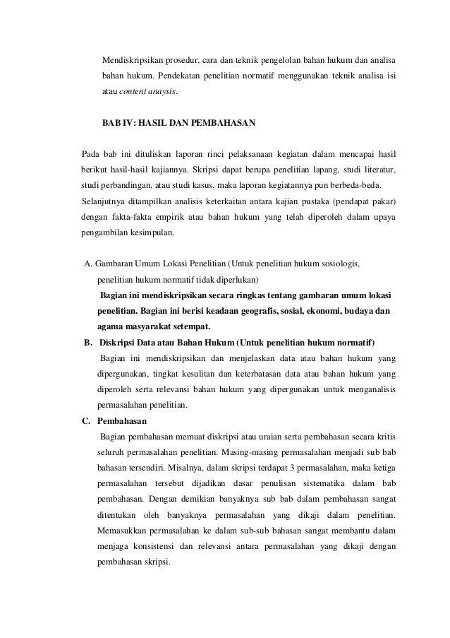 Contoh Skripsi Normatif Contoh Soal Dan Materi Pelajaran 2