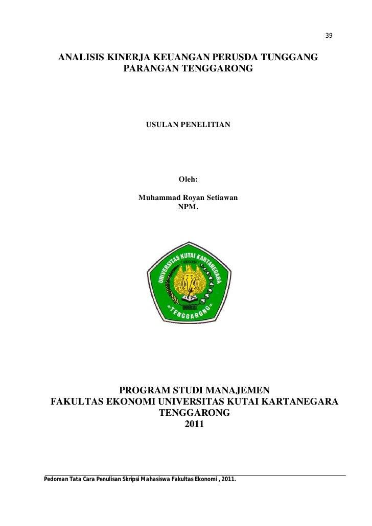 Judul Skripsi Akuntansi Laporan Keuangan - Contoh II