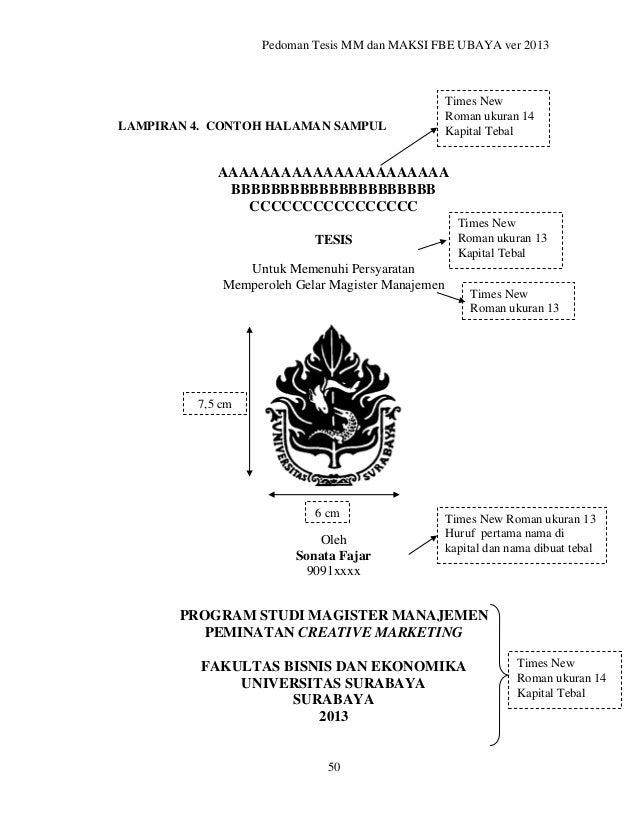 Pedoman Penulisan Tesis Ubaya