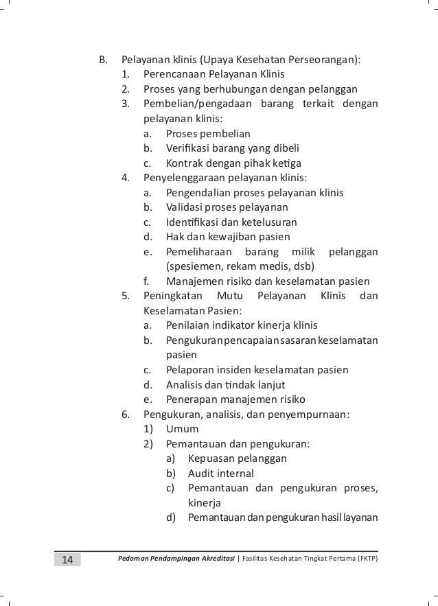 16 Pedoman Pendampingan Akreditasi | Fasilitas Kesehatan Tingkat Pertama (FKTP) Kata Pengantar Bab I. Pendahuluan A. Keada...