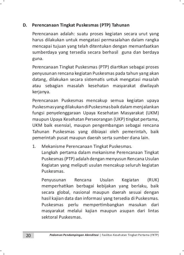 22 Pedoman Pendampingan Akreditasi | Fasilitas Kesehatan Tingkat Pertama (FKTP) dikumpulkan m yang telah ditunjuk oleh Kep...
