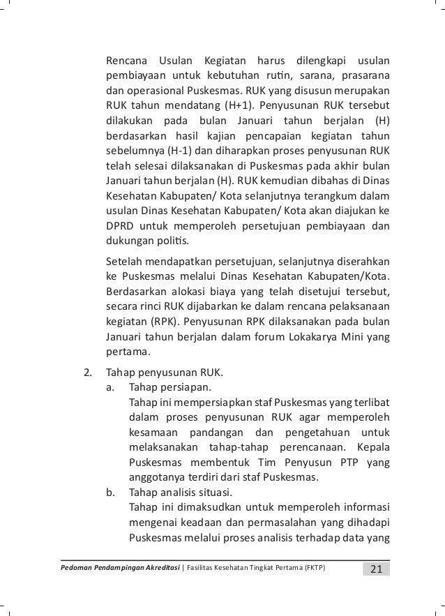 23Pedoman Pendampingan Akreditasi | Fasilitas Kesehatan Tingkat Pertama (FKTP) 4. Penyusunan Rencana Pelaksanaan Kegiatan....