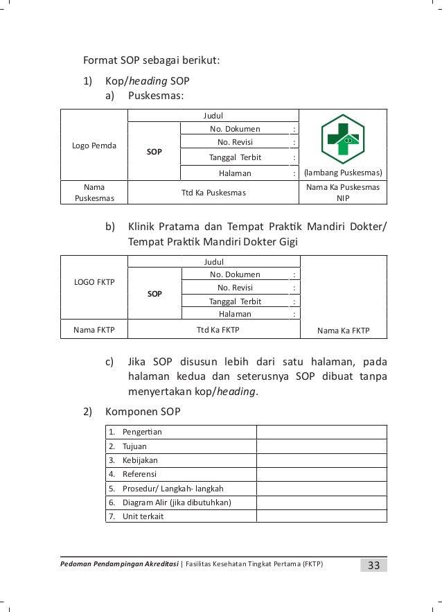 35Pedoman Pendampingan Akreditasi | Fasilitas Kesehatan Tingkat Pertama (FKTP) diberi huruf A, dokumen revisi pertama dibe...