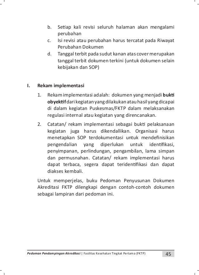 47Pedoman Pendampingan Akreditasi | Fasilitas Kesehatan Tingkat Pertama (FKTP) LAMPIRAN