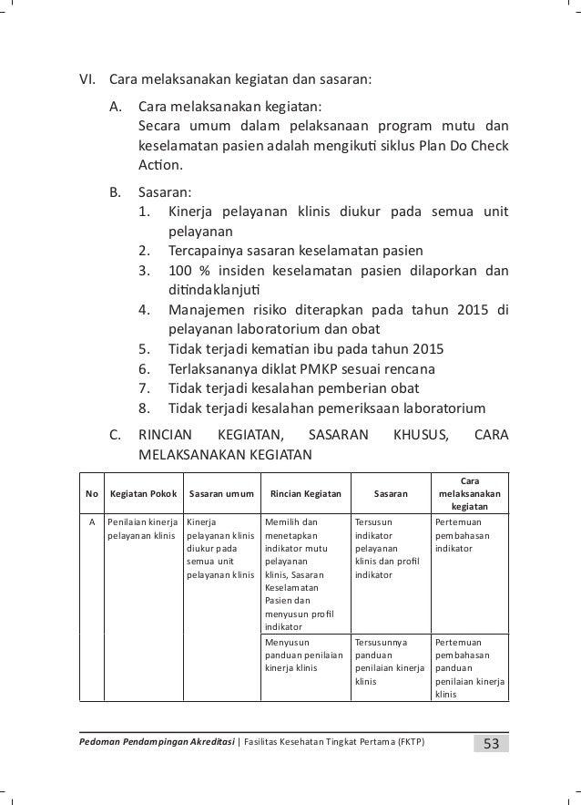 56 Pedoman Pendampingan Akreditasi | Fasilitas Kesehatan Tingkat Pertama (FKTP) Lampiran 2. Contoh Surat Keputusan Tentang...
