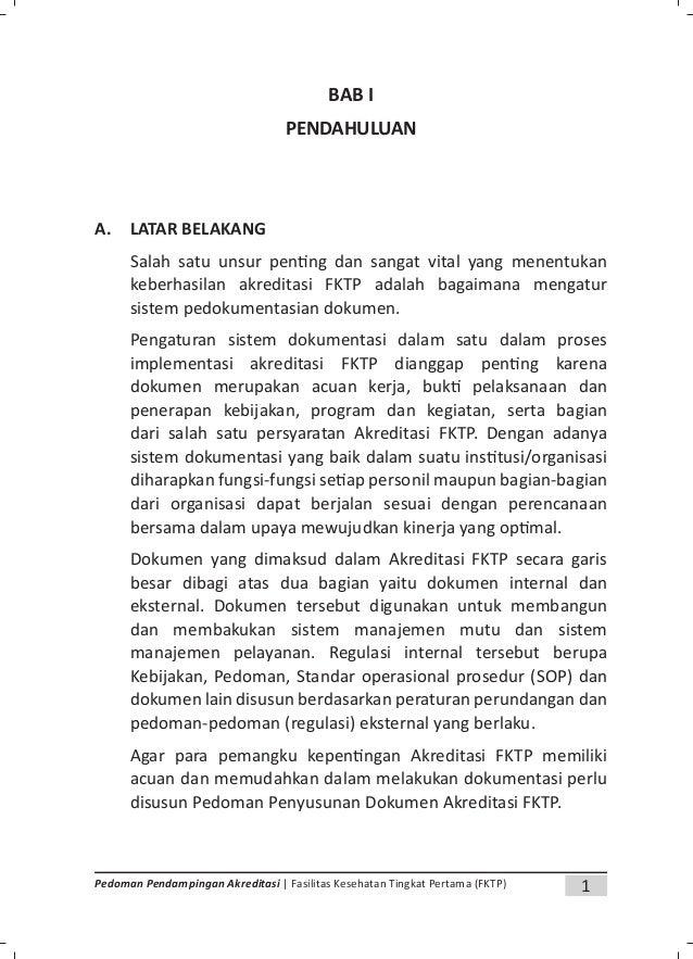 3Pedoman Pendampingan Akreditasi | Fasilitas Kesehatan Tingkat Pertama (FKTP) 2. Undang-Undang Republik Indonesia Nomor 36...